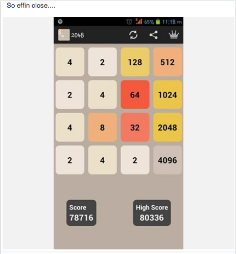 Best 2048 Game Result