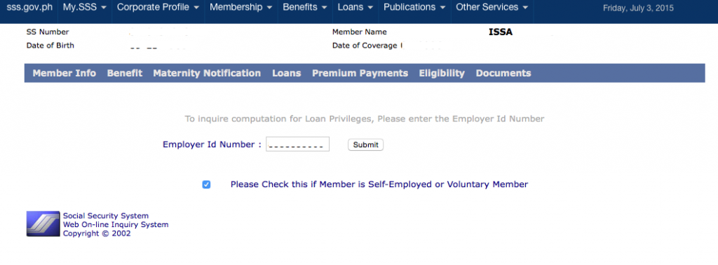 Employer ID Number- Voluntary Member