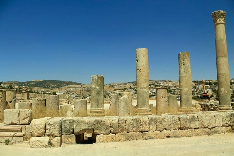Ruins of the city of antiquity