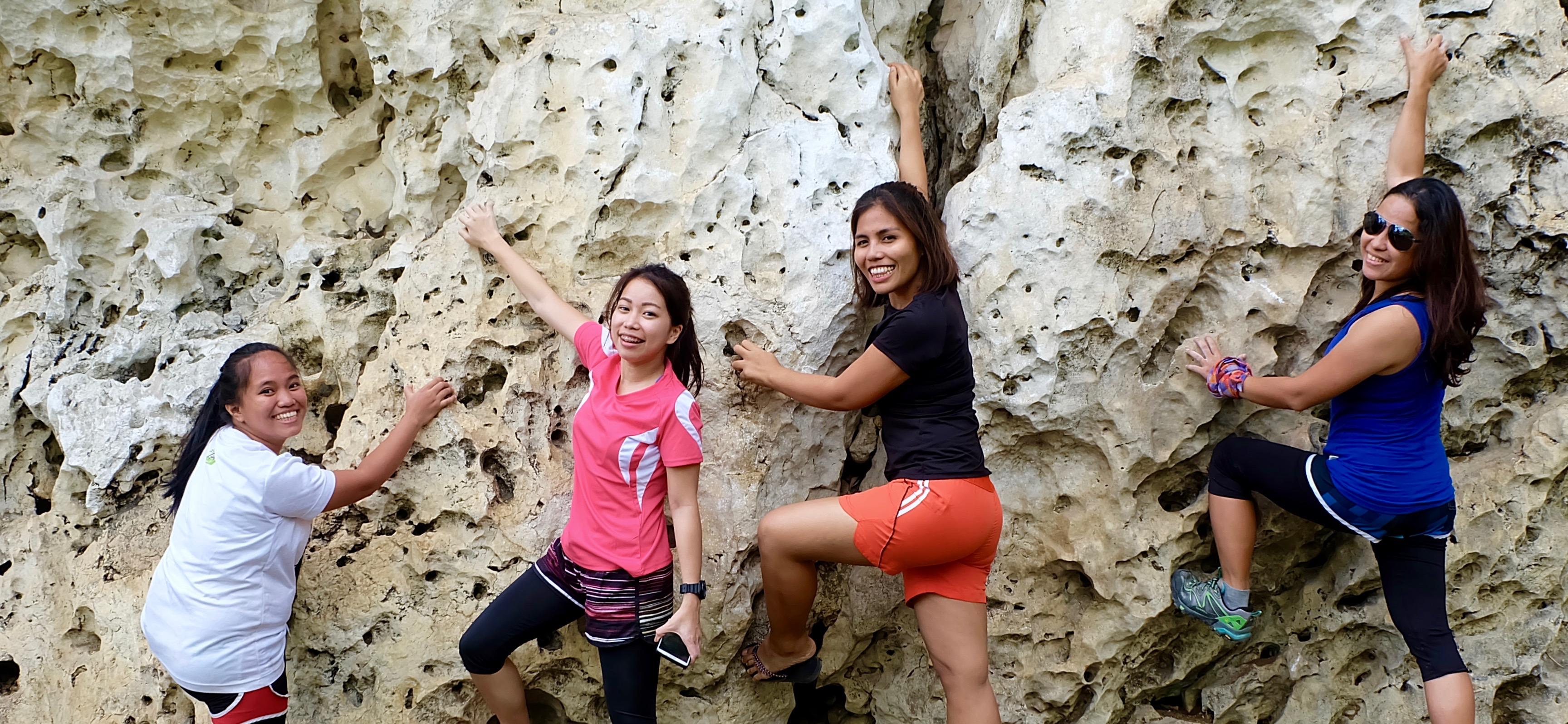 Rock climbing newbies