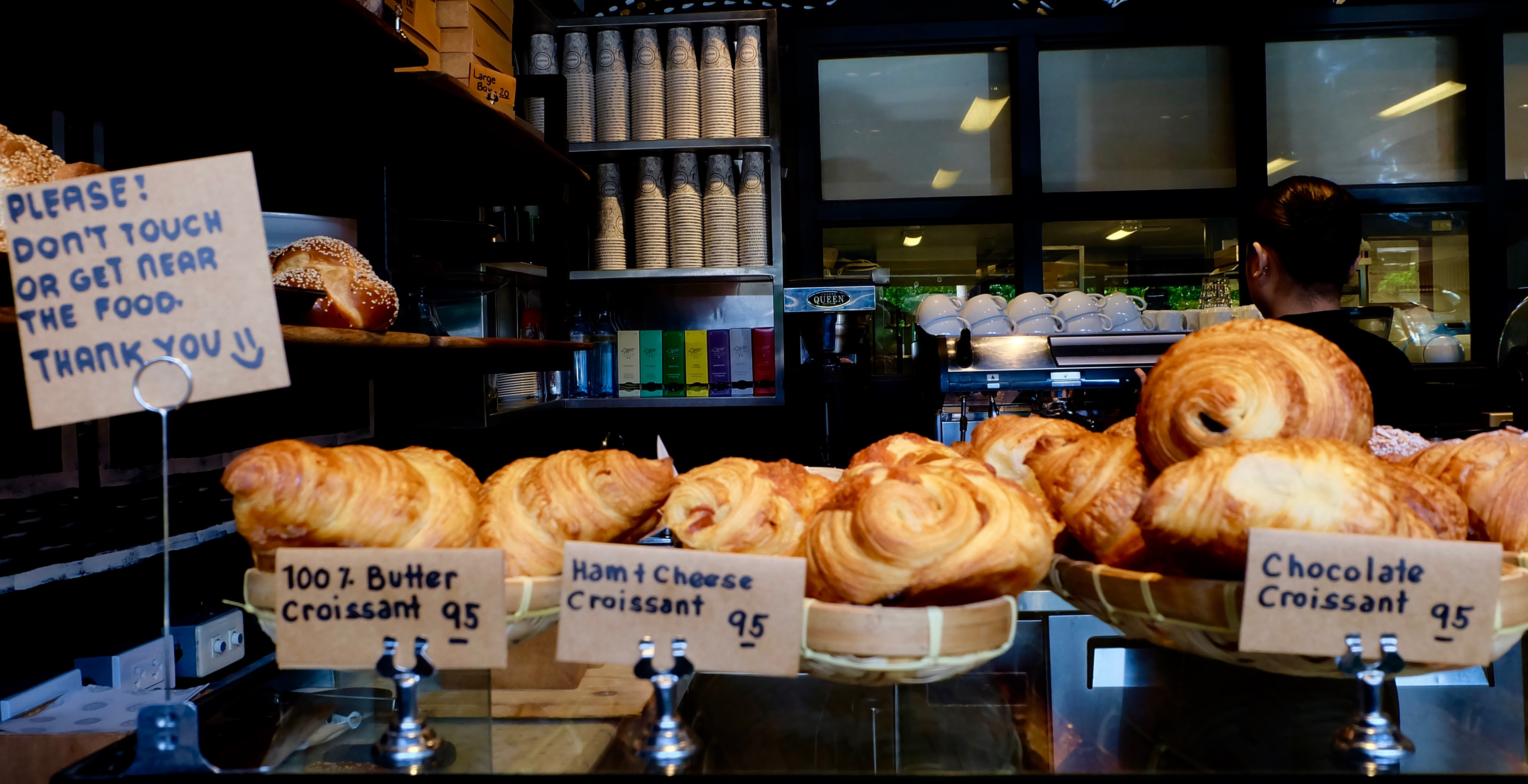 croissants at abaca baking company