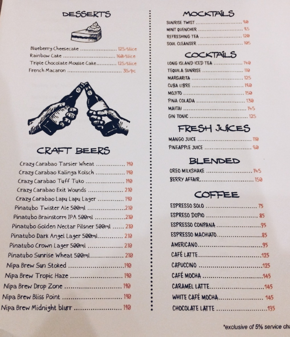 The Pyramid Cebu Menu (page 2)