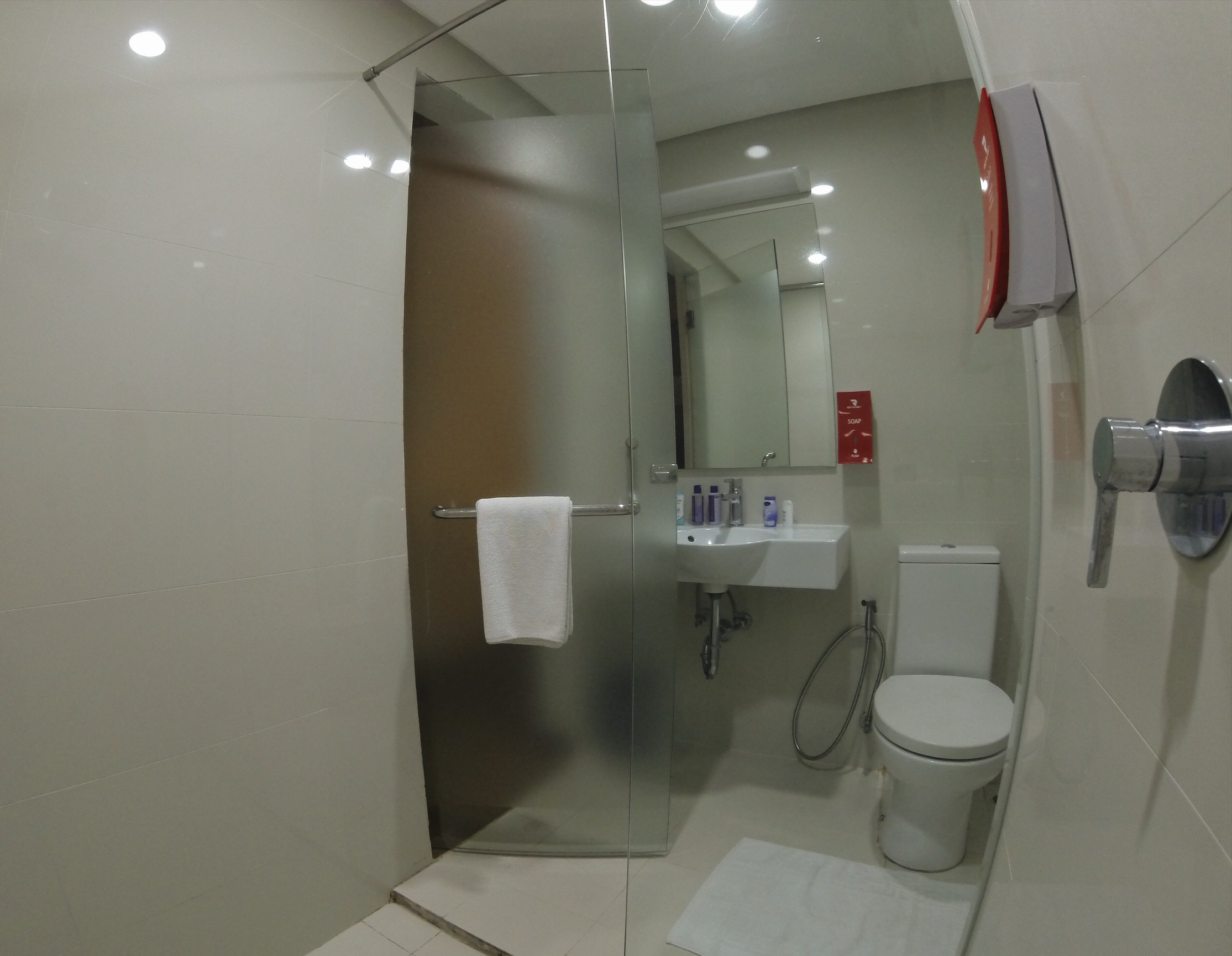 Bathroom at Red Planet Hotel Cebu