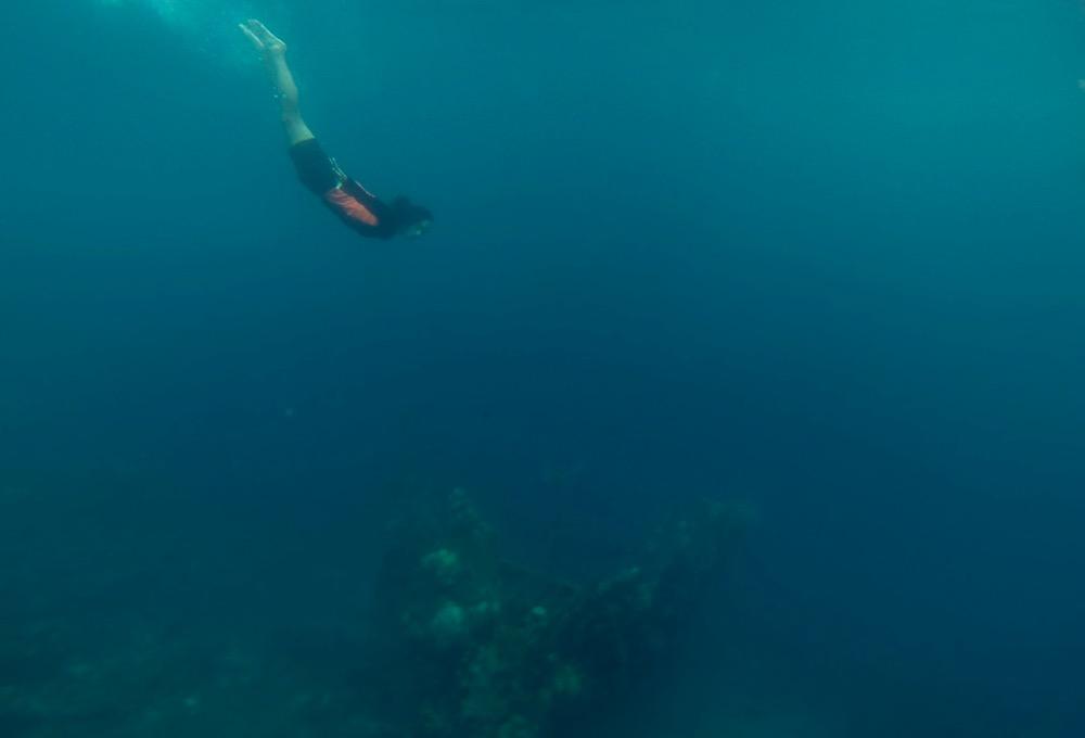 Diving into Skeleton Wreck Coron Palawan
