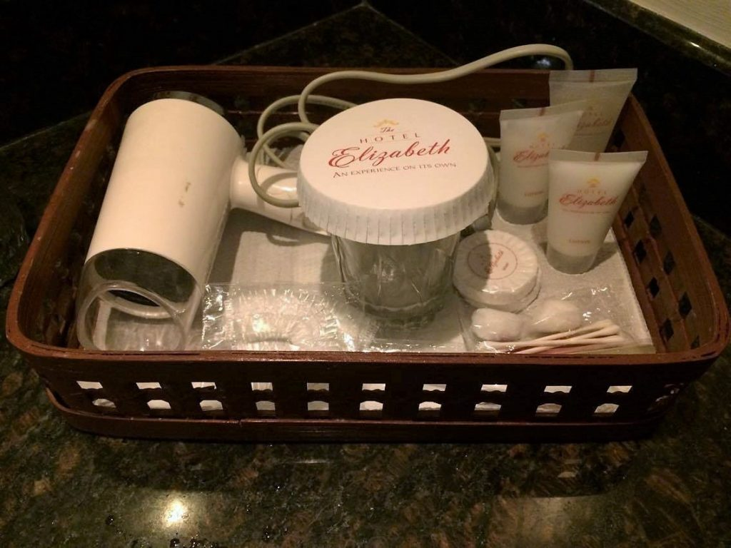 Hotel Elizabeth toiletries