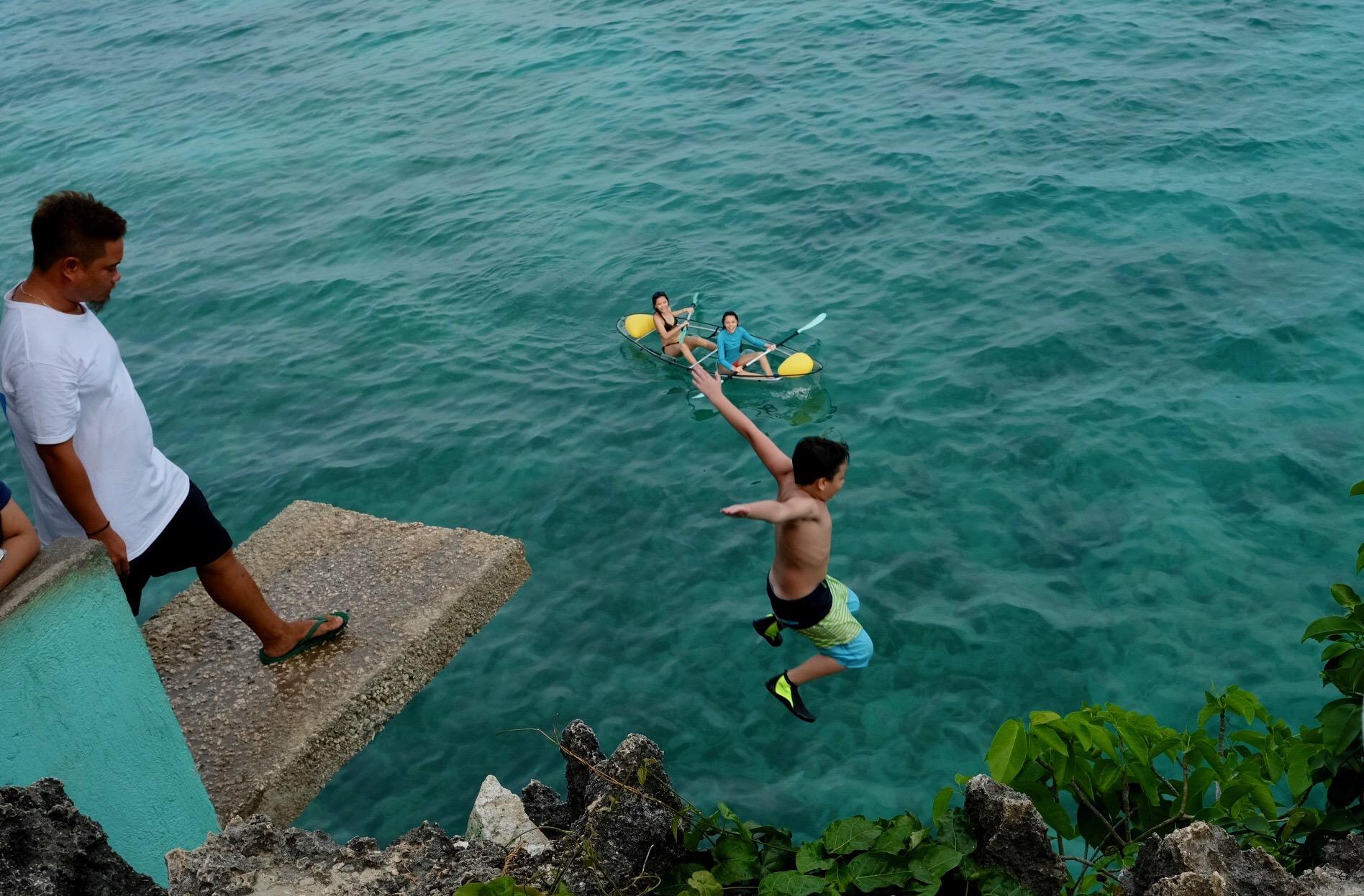 Salagdoong Beach 20 feet jump