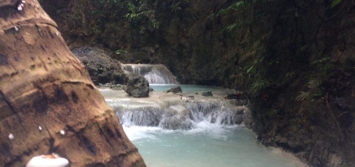 Aguinid Falls pools