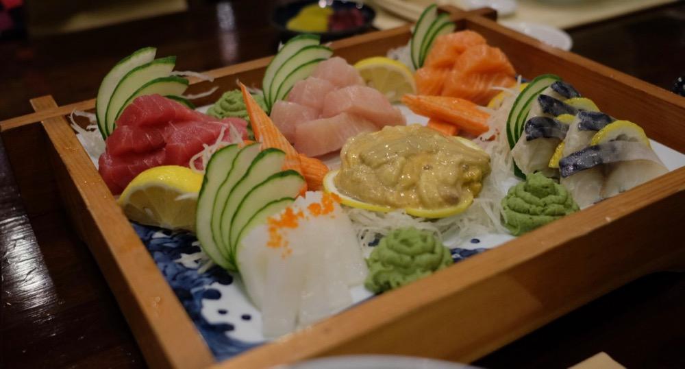 7-variety sashimi platter in MIzu Waterfront Cebu City