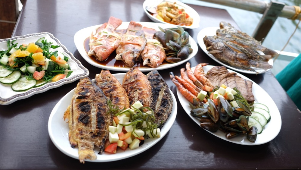 Tilapia dishes at Riverfarm Bacnotan