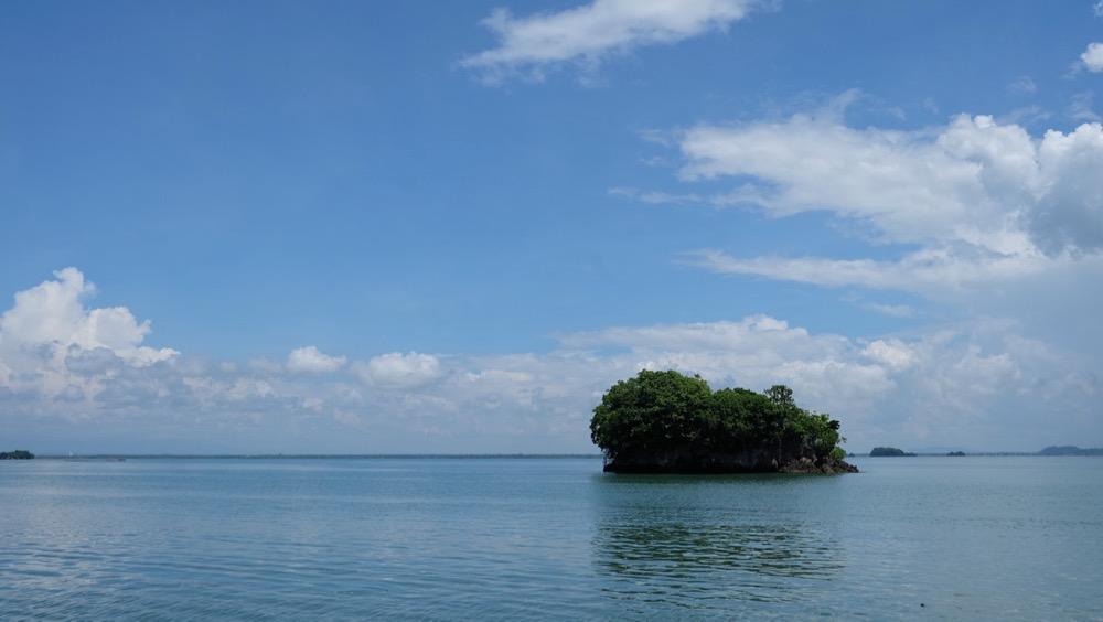 Island across Roca Entantada Mansion
